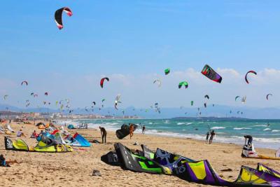 kite surf en provincia de cadiz