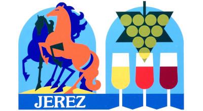 cartel jerez vino caballos