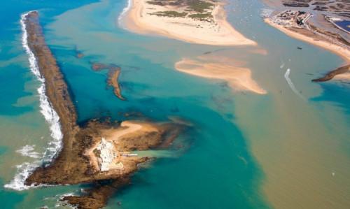 playa sancti petri, castillo punta del boqueron