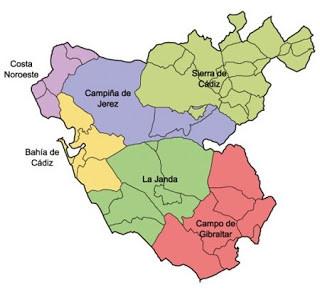 comarcas de la provincia de cadiz